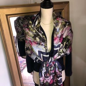 Spring Floral Large Scarf/Wrap | ECHO